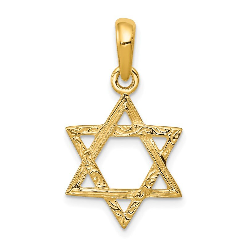 Arizona Diamond Center Collection 14K Star of David Pendant