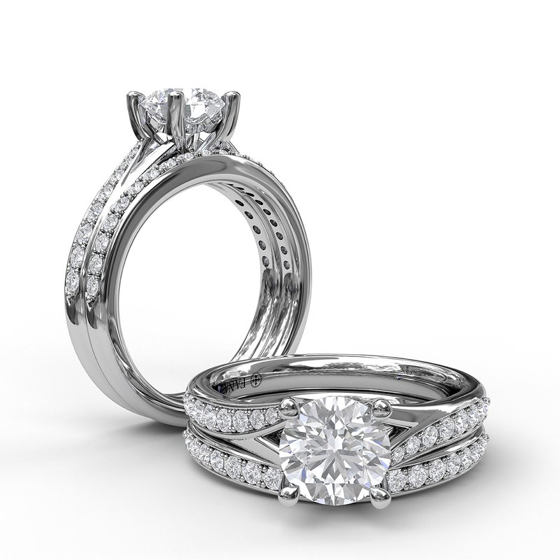 Fana Designer Split Band Engagement Ring