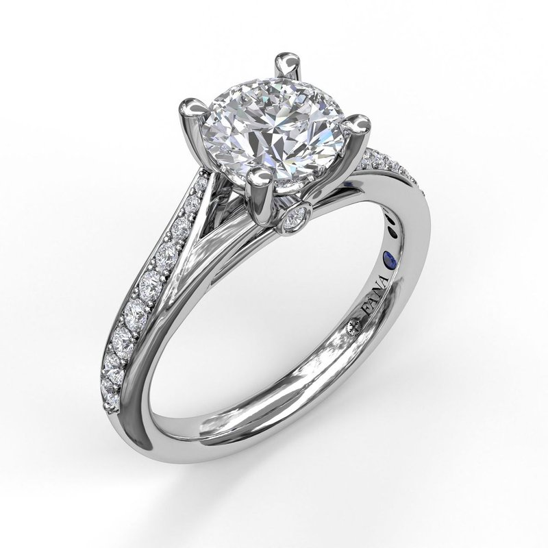 Designer Split Band Engagement Ring