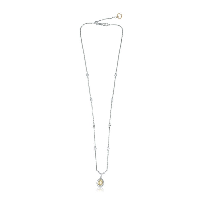 Roman & Jules Pear-shaped Yellow Diamond Necklace
