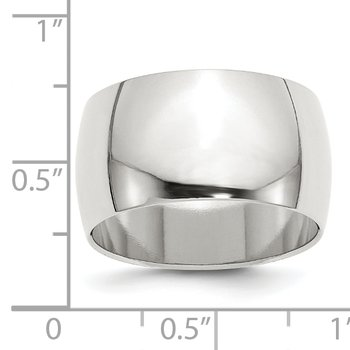 SS 12mm Half Round Size 10 Band