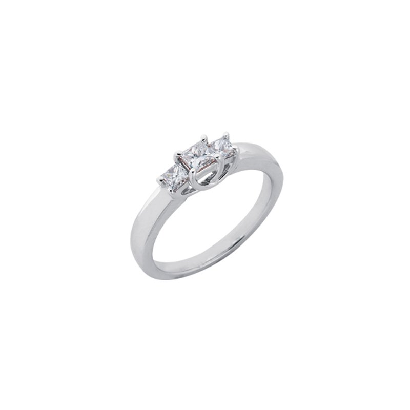 Briana White Gold Three Stone Ring