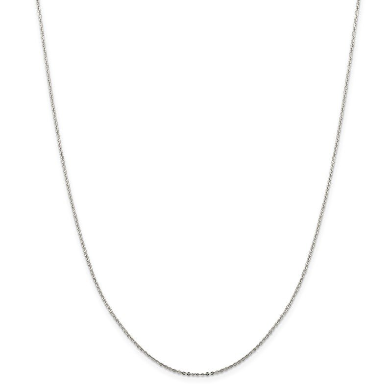 Quality Gold Sterling Silver .9mm Flat Link Cable Chain