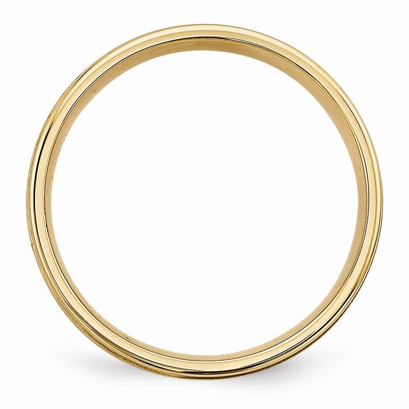 Quality Gold 14k Yellow Gold Light Comfort Fit Brush Satin Fancy Band