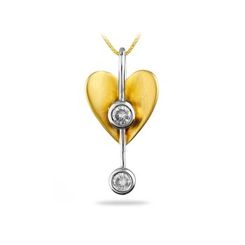 14K TTG Diamond Mini Solitaire Pendant