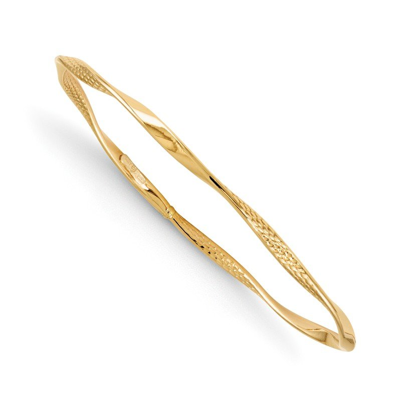 Leslie's Leslie's 14K Polished and Textured Twisted Slip-on Bangle