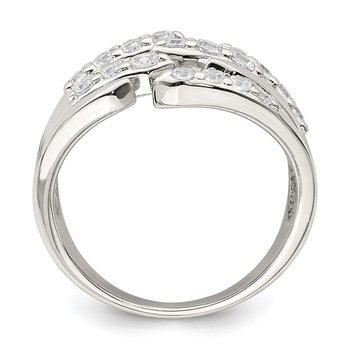 Sterling Silver CZ Fancy Band
