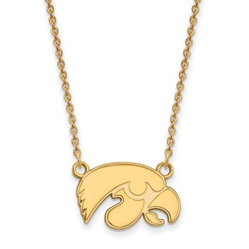 Gold-Plated Sterling Silver University of Iowa NCAA Necklace