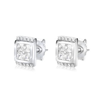 Square Stud Sparkly Earrings