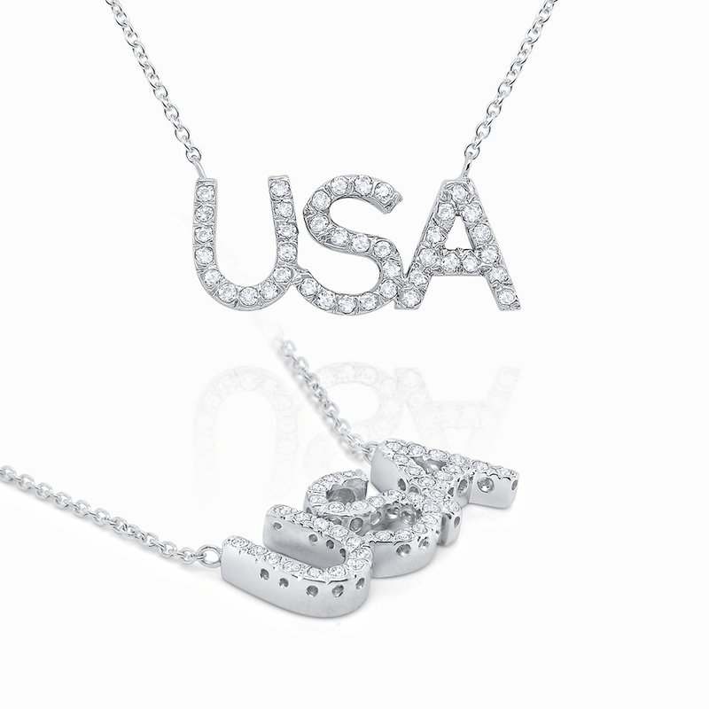 KC Designs 14k Gold and Diamond USA Necklace