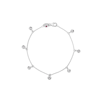 18K 7 STATION DANGLING DIAMOND BRACELET