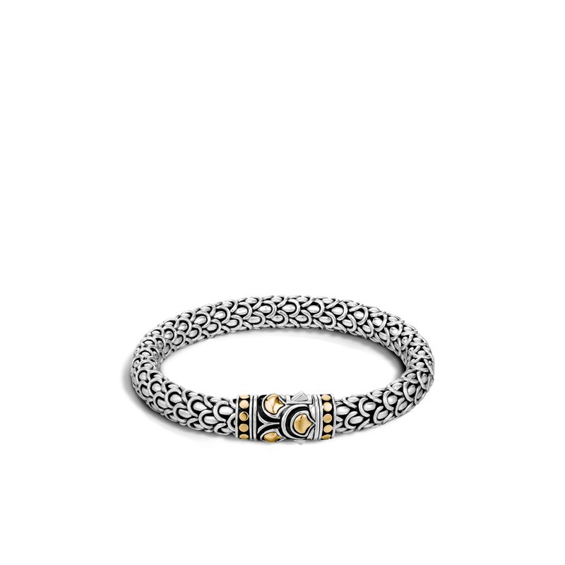 JOHN HARDY Legends Naga 7MM Station Bracelet in Silver and 18K Gold