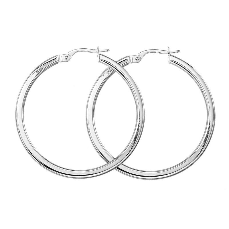 Roberto Coin  #24996 Of Medium Round Hoop Earrings