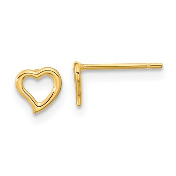 14k Madi K Double Heart Post Earrings
