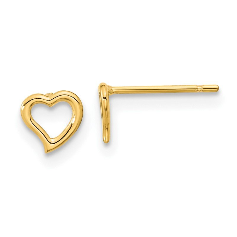 Quality Gold 14k Madi K Double Heart Post Earrings