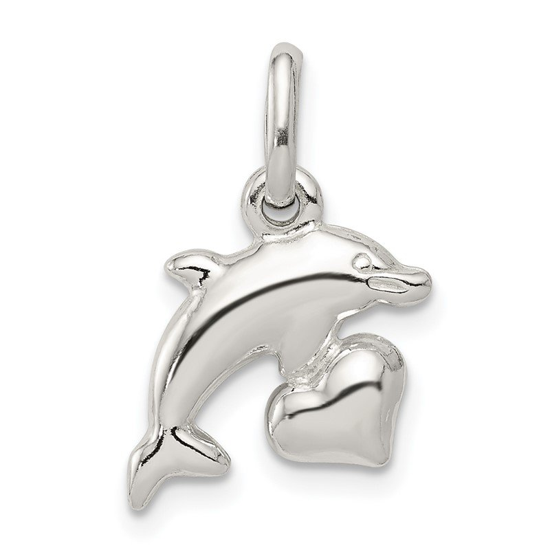 Quality Gold Sterling Silver Dolphin Pendant
