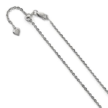 Leslie's Sterling Silver 2 mm Adjustable Cable Chain