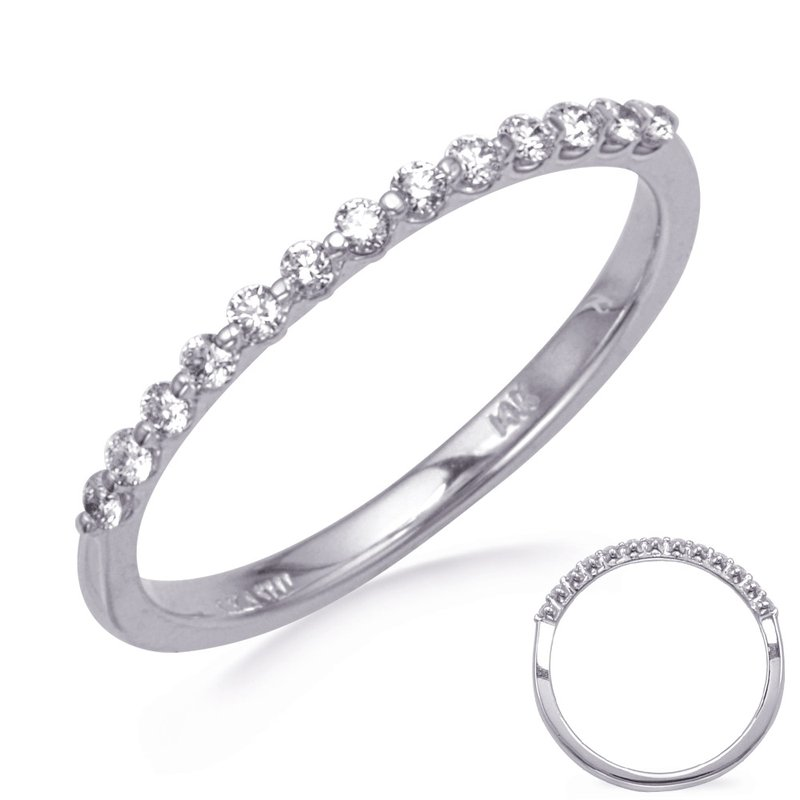S. Kashi & Sons Bridal White Gold Wedding Band