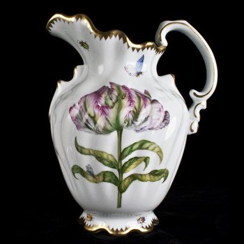 Pitcher with Pink/Fuchsia Tulip