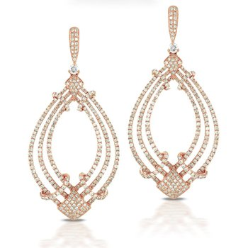 Doves Diamond Chandelier Earrings