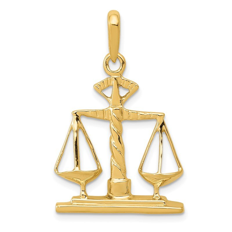 Quality Gold 14k Scales of Justice Pendant