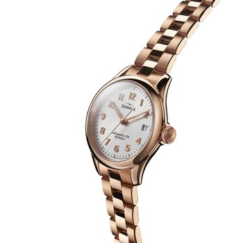 The Vinton 32mm Silver Dial Rose Gold Womens Watch