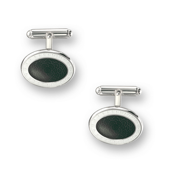 Sterling Silver T-Bar Cufflinks-Gray.