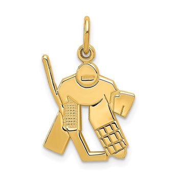 14k Hockey Goalie Charm