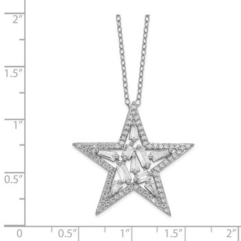 Cheryl M SS CZ Star Necklace