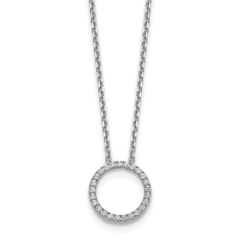 True Origin 14kw True Origin Lab Grown Dia VS/SI D,E,F Circle Pendant with Chain