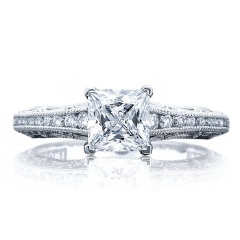 Tacori Reverse Crescent Princess Cut Engagement Ring