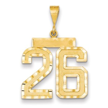 14k Large Diamond-cut Number 26 Charm