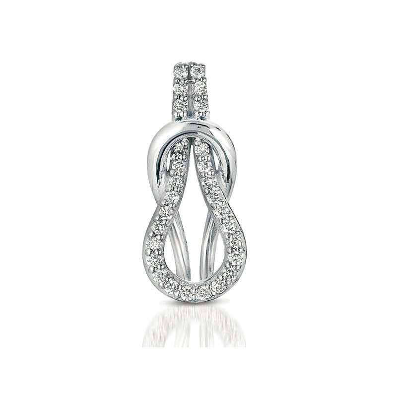 S. Kashi  & Sons White Gold Love Knot Charm