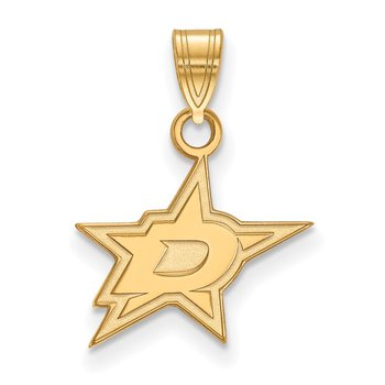 Gold-Plated Sterling Silver Dallas Stars NHL Pendant