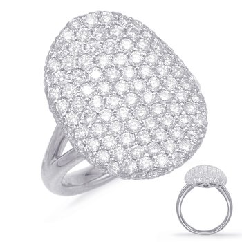 White Gold Diamond Pave Ring