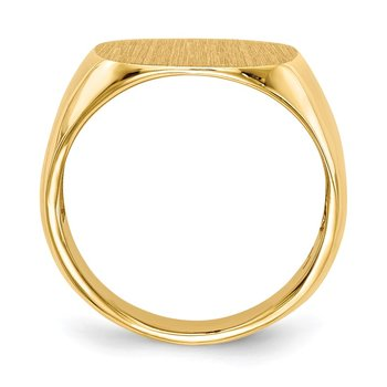 14k 15.5x15.0mm Open Back Men's Signet Ring