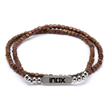 6mm Brown Hematite Cube & Steel Beads Bracelet