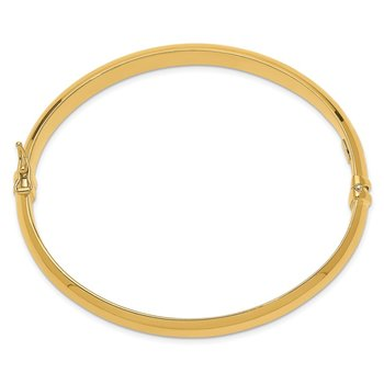Sterling Silver Gold-plated 8mm Hinged Bangle
