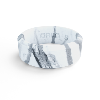 Women's Modern White Marble Silicone Ring