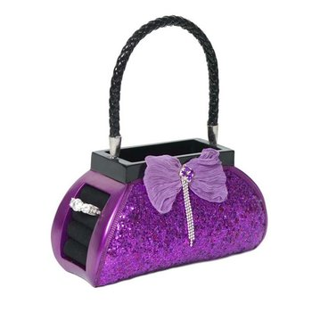 Brush/ Phone Holder Purple Sequined