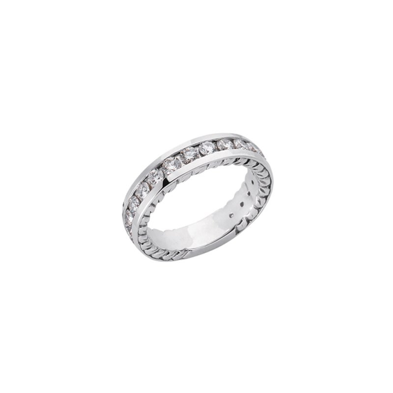 S. Kashi & Sons Bridal White Gold Mathing Band