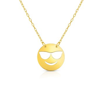 14K Gold Cool Roymoji Necklace