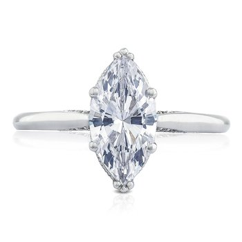 Simply Tacori Marquise Platinum Engagement Ring