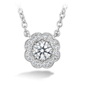 0.5 ctw. Lorelei Diamond Halo Pendant