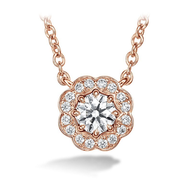 Hearts on Fire 0.5 ctw. Lorelei Diamond Halo Pendant