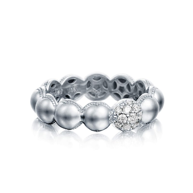 Tacori Fashion Pavé Dew Droplets Ring in Silver with Diamonds