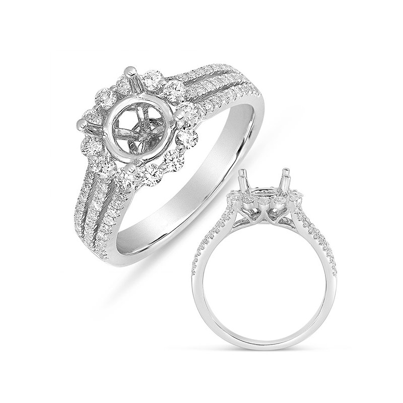 S. Kashi & Sons Bridal White Gold Halo Ring