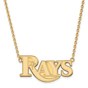 Gold-Plated Sterling Silver Tampa Bay Rays MLB Necklace