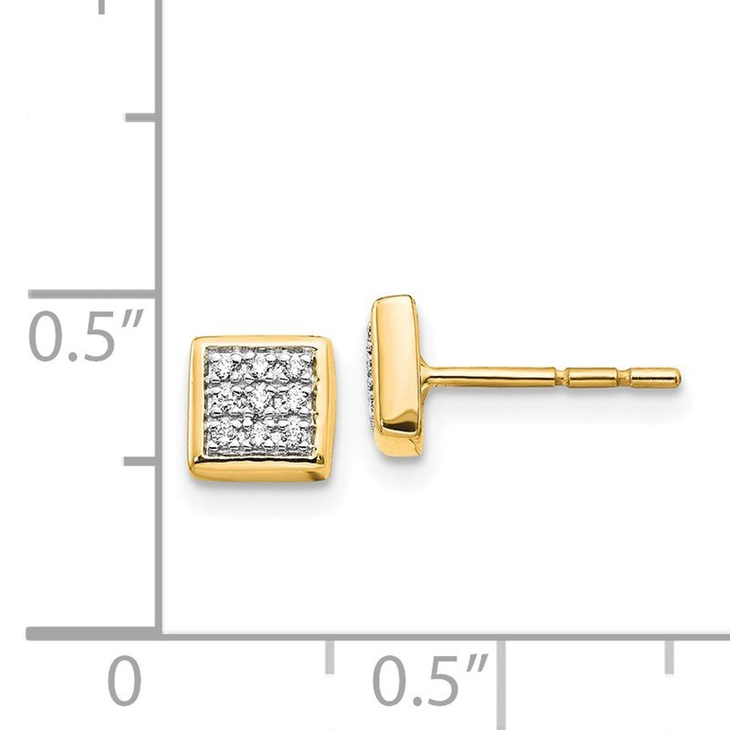 Quality Gold 14k White Gold Diamond Post Earrings