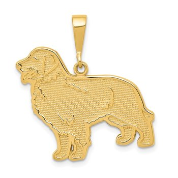 14k Golden Retriever Pendant